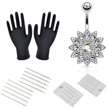 将图片加载到图库查看器,15/22/24/41pcs Body Piercing Tools Professional Piercing Tool Kit Sterile Belly Body Ring Needle Sets Cartilage Tools