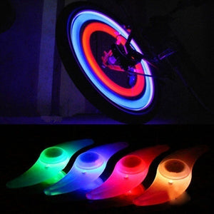 4 Colors Bike Bicycle Cycling Spoke Wire Tire Tyre Wheel LED Bright Light Lamp