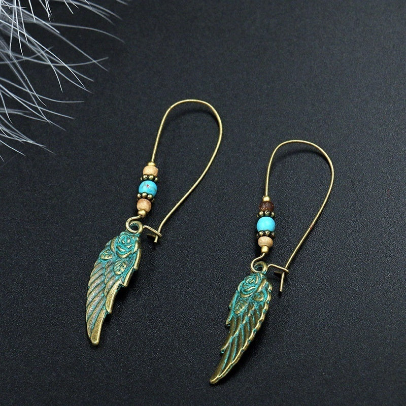 A Pair Ladies Vintage Bohemian Style Earrings Womens Creative Turquoise Handmade Earrings Fashion Jewelry 6 Styles