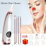 Upgrade Electric Blackhead Remover Pore Vacuum Suction Diamond Dermabrasion Face Cleaner USB Charge+ 4 Pcs Tools for Free
