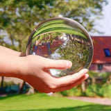 100mm 80mm K9 Crystal Ball Glass Transparent Ball Spheres Glass Ball Photography Balls Crystal Craft Decor
