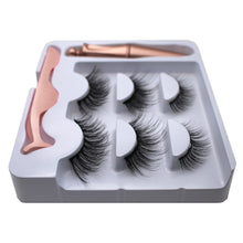 将图片加载到图库查看器,3 Pairs Magnetic Eyelashes with 1Pc Magnetic Liquid Eyeliner with Tweezers 5 Magnetic 3D Mink False Eyelashes Natural and Long Eye Makeup Lashes Extension