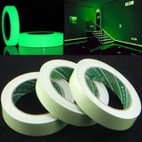 Reflective Glow Tape Self-adhesive Sticker Removable Luminous Tape Fluorescent Illuminated Warning Tape