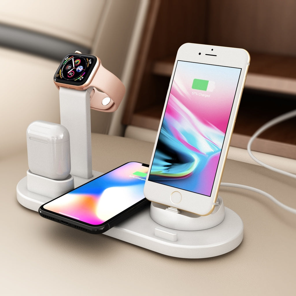 NEW 3 in 1 Multi Function Rotatable Charger Stand for IPhone Airpods Apple Watch Charger Dock Station Cargador Iphone Wireless Charger