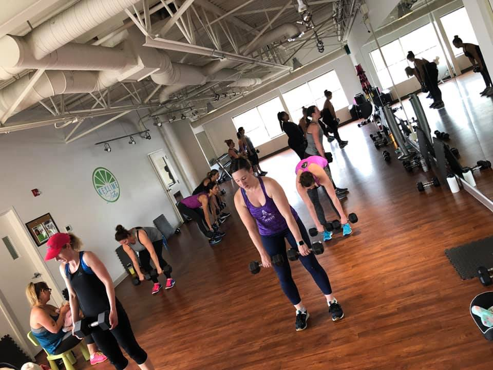 Fitness class at KEYLIME Studio