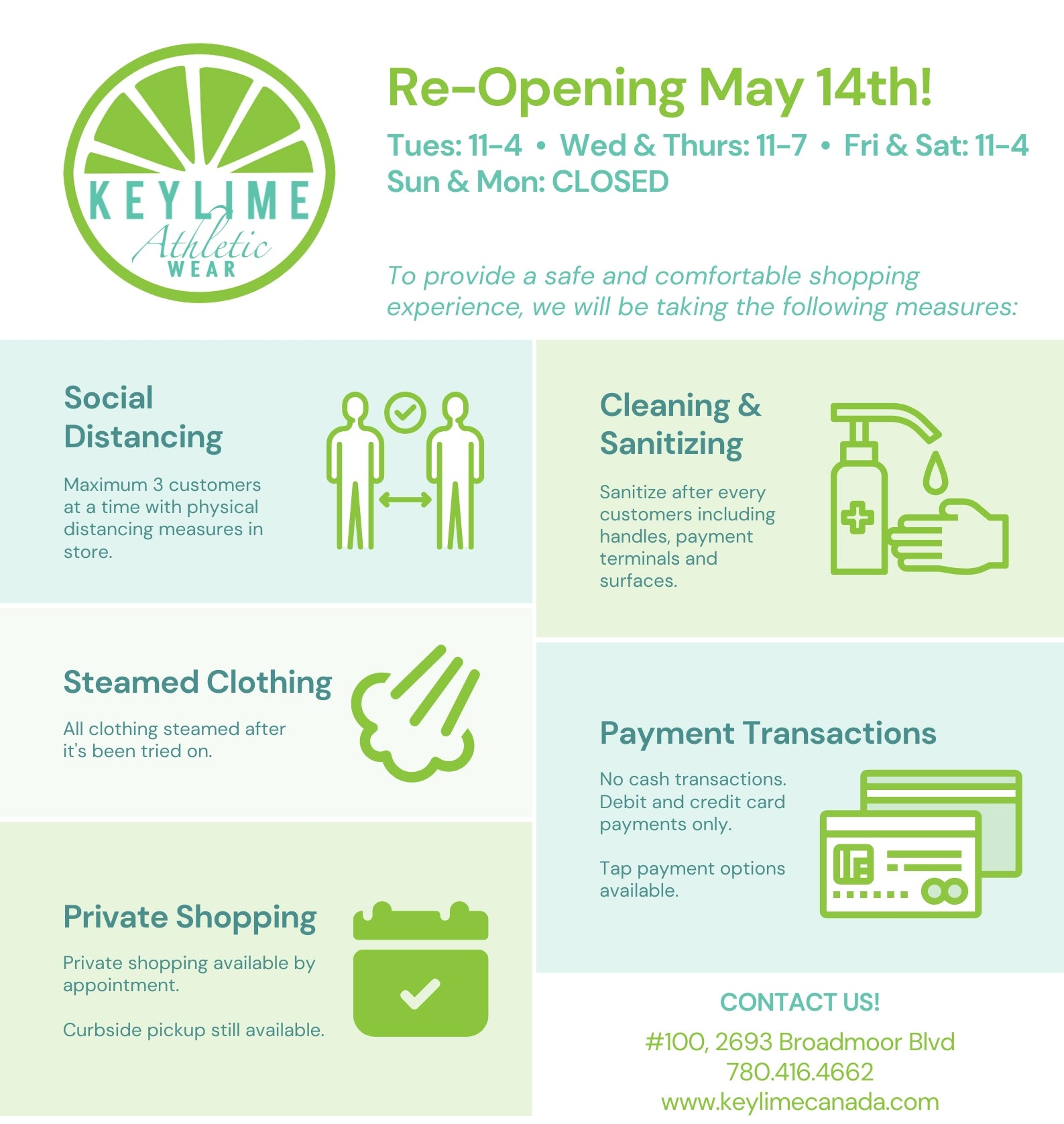 KEYLIME COVID-19 Re-Opening