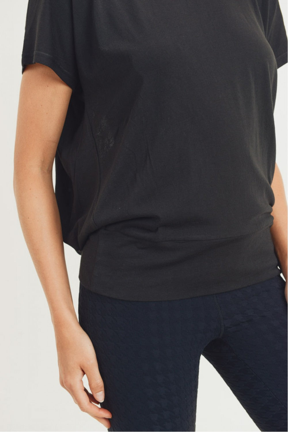 Flow Shirt with Cutout Draped Back