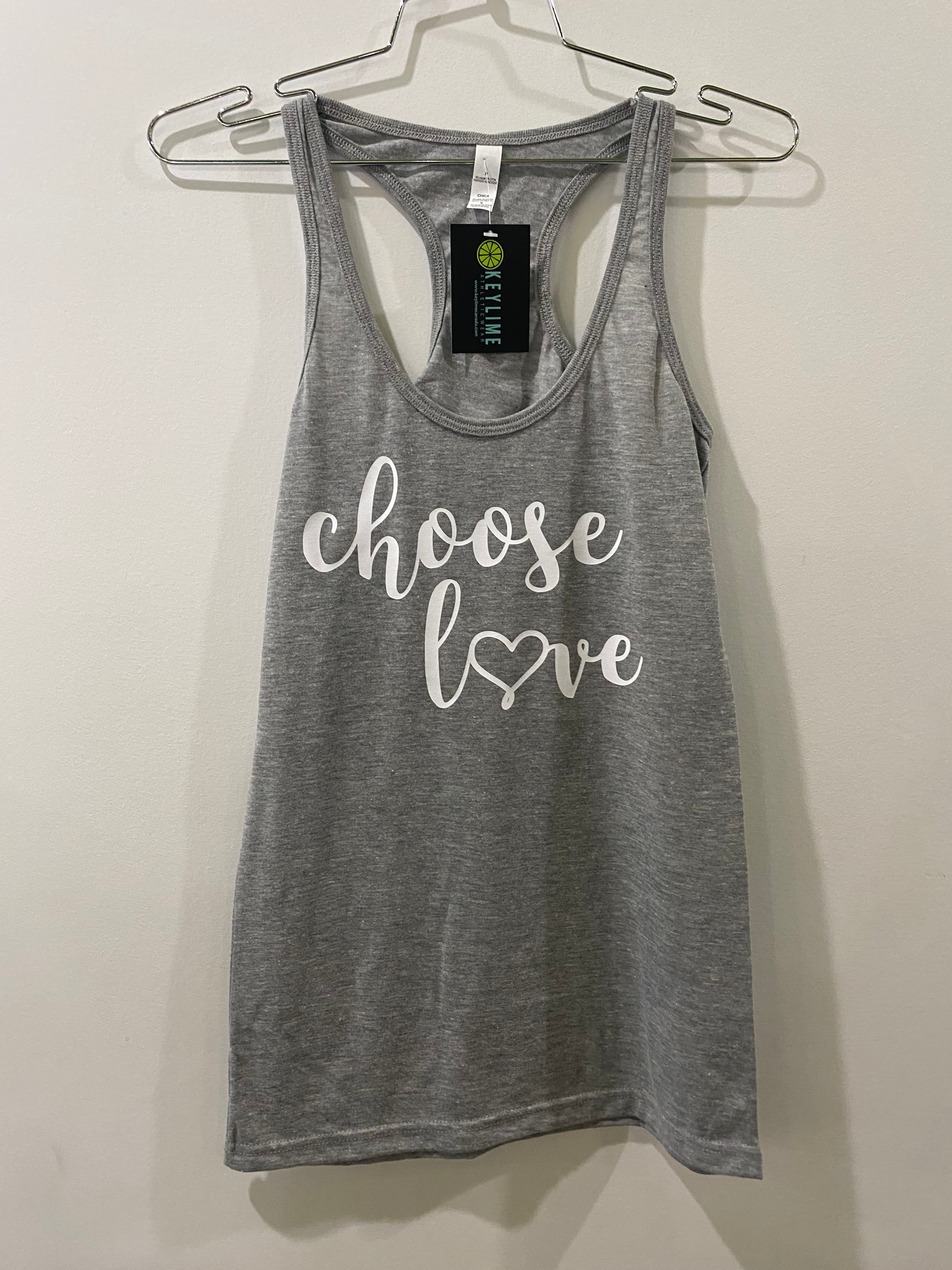 "Printed Tank ""Choose Love"""