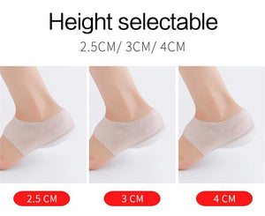Invisible Height Increasing Insole Silicone Heel Socks (2-5cm) insoles