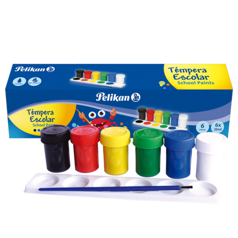 Paquete de témpera multi-color 25ml (6x)