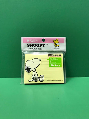 Snoopy & Woodstock post-its