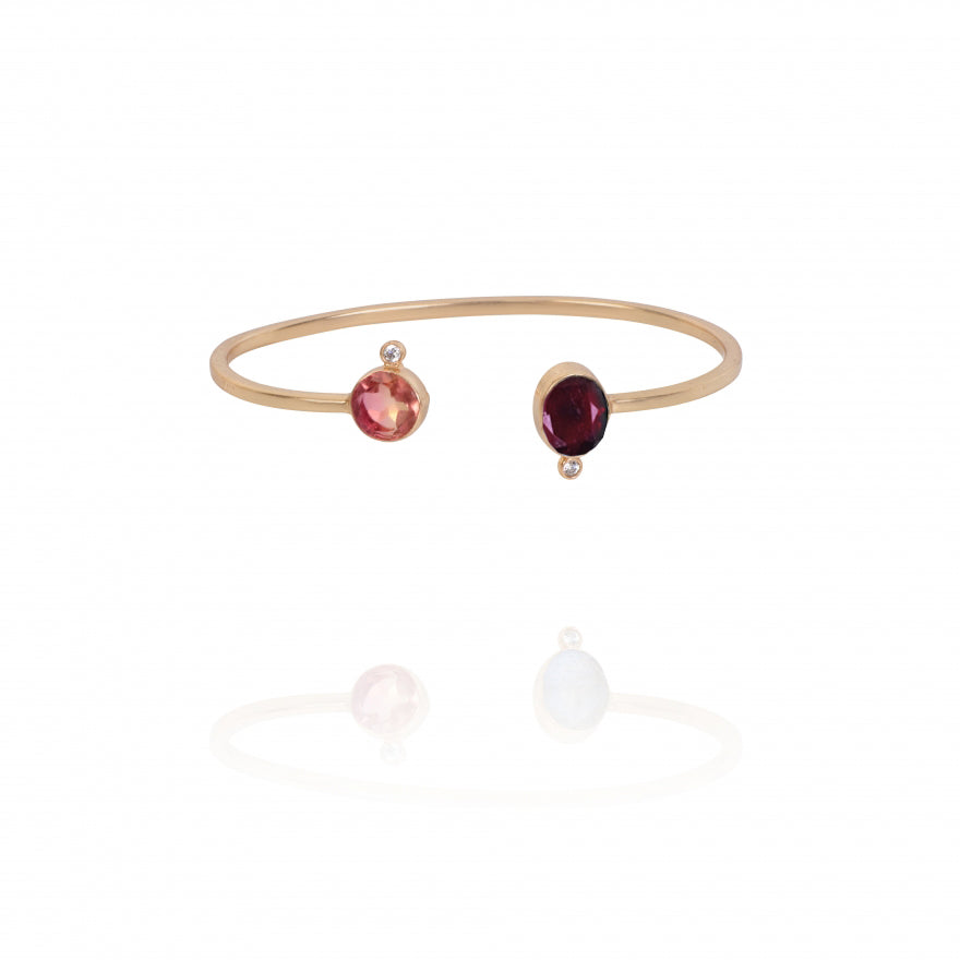 Rouge Two Stone Cuff
