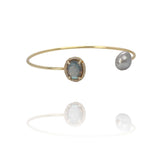 Aurora Grey Pearl Bangle