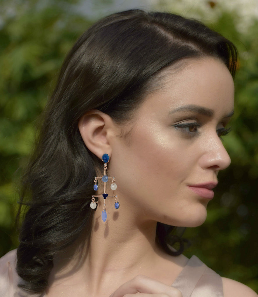 Cerulean Chandelier Earrings