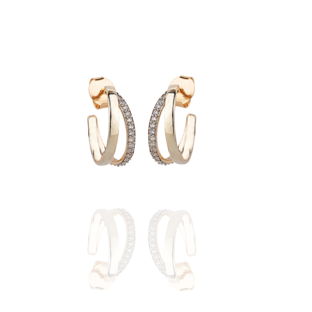 Glamrock Pave Hoops