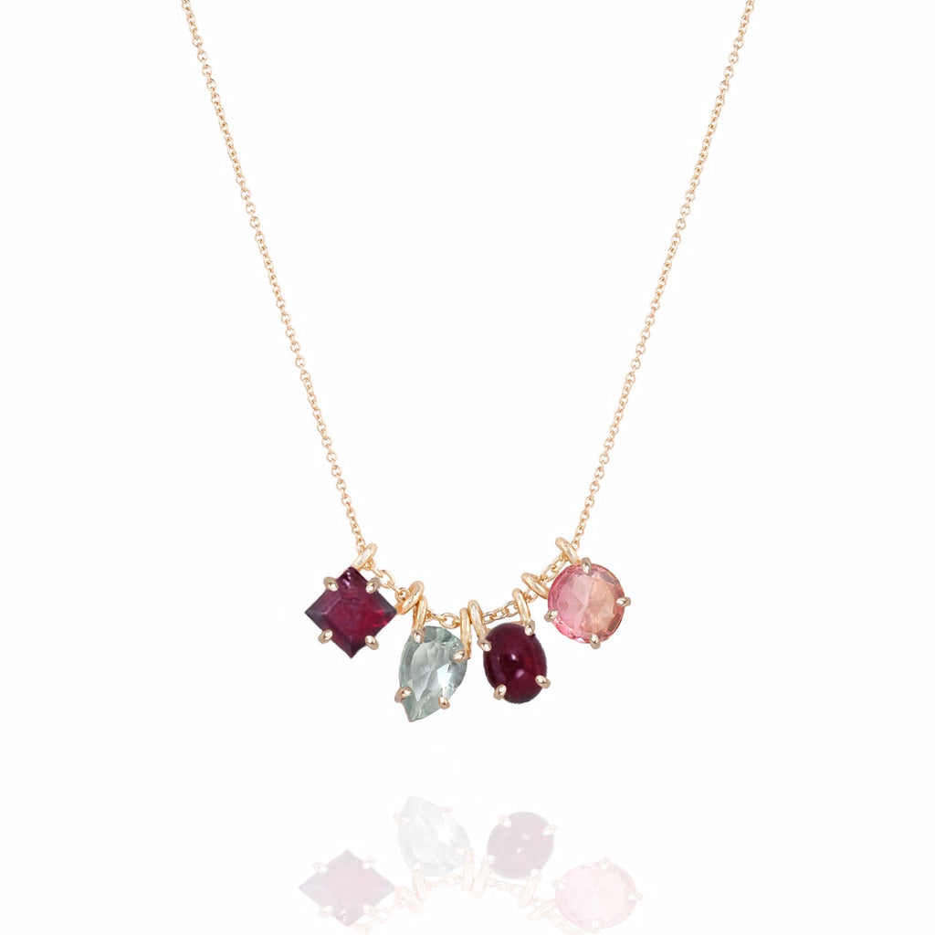 Rouge Cluster Necklace