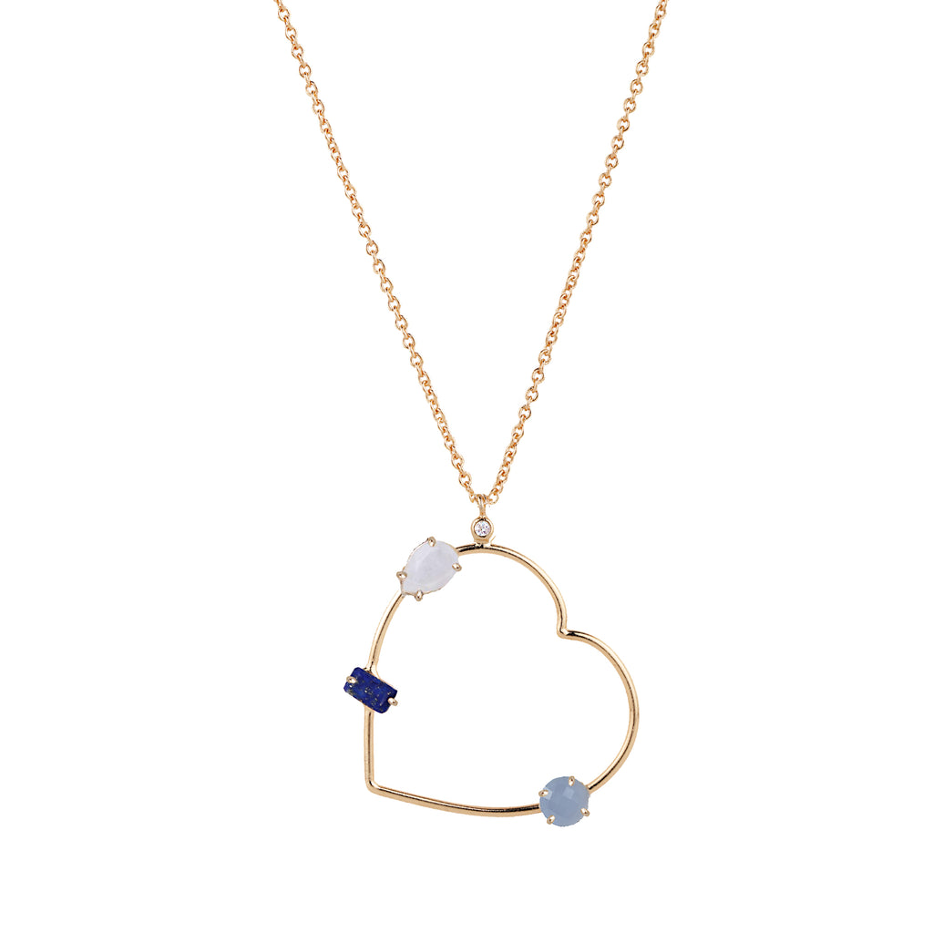 Cerulean Heart Necklace