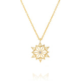 Ivory Double Star Delicate Necklace