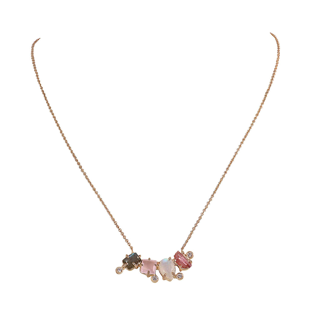 Rose Multigem Necklace