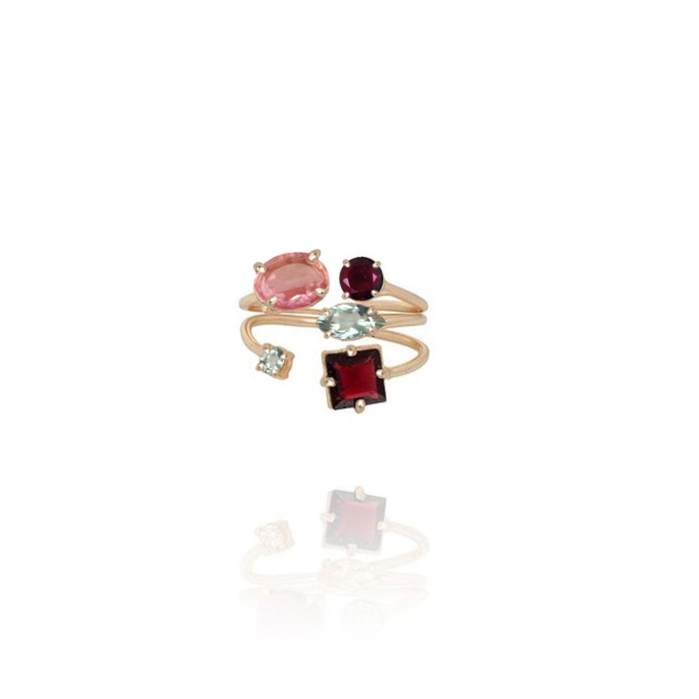 Rouge 5 Stone Ring