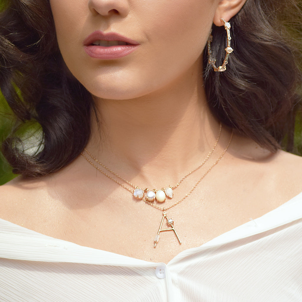 Ivory Multigem Necklace