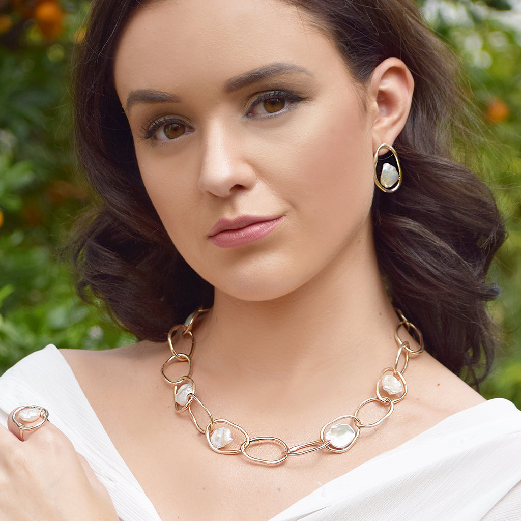 Grecian Goddess Pearl Necklace