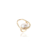 Grecian Goddess  Oval Pearl ring