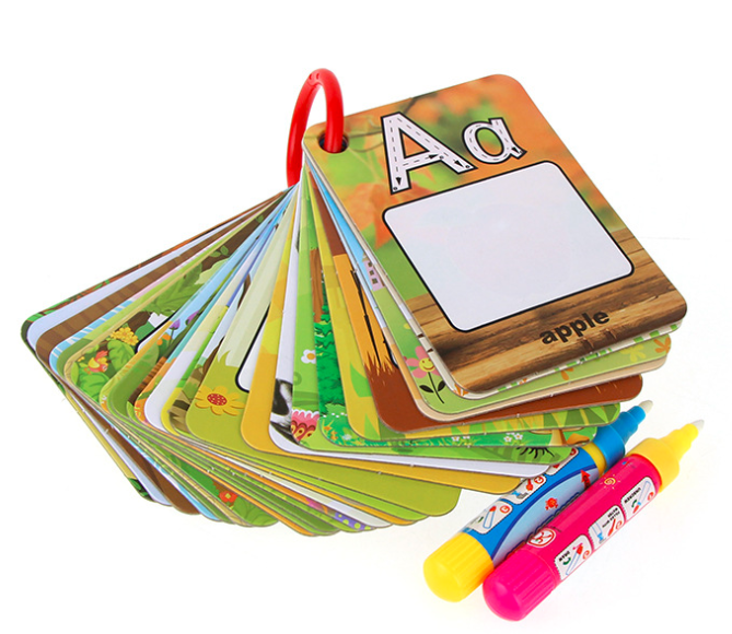 26 Letters Water Drawing Cards