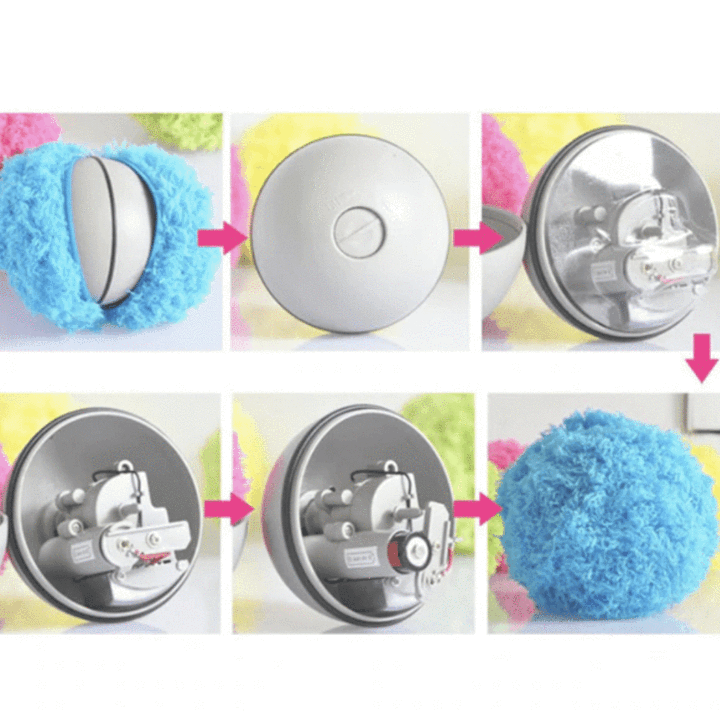 2 in 1 Pet Toy & vacuumcleaner - Automatic Rolling Ball
