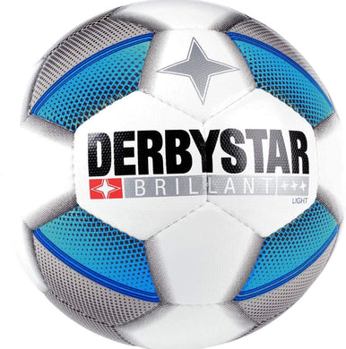 Derbystar Brillant Light Top Jeugdbal (wit/blauw/grijs) - Clubmaterials.com