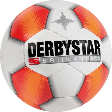 Derbystar Brillant S-Light Top Jeugdbal (wit/oranje) - Clubmaterials.com