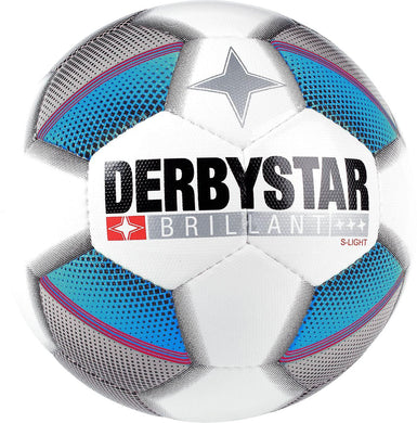 Derbystar Brillant S-Light Top Jeugdbal (wit/blauw/grijs) - Clubmaterials.com