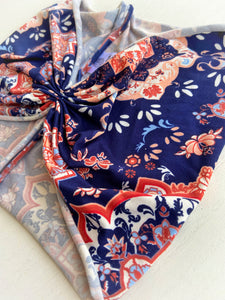 Navy Mandala Scrunch Baja Band