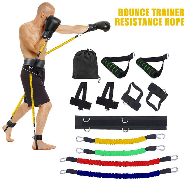 Resistance Band Boxing Muay Training Stretching Strap Set Gym workout Fintess Exercises Waist Leg Strength Training Belt - MistDiffused