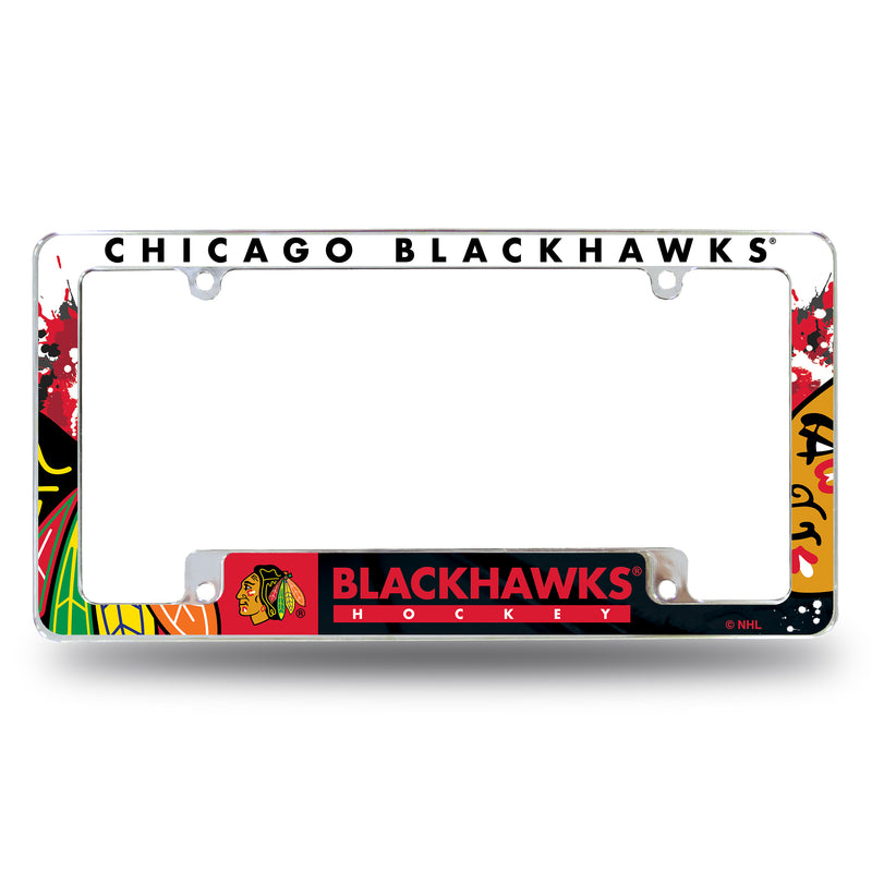 Chicago Blackhawks All Over Chrome Frame