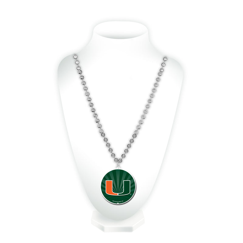 Miami University Sport Beads With Medallion