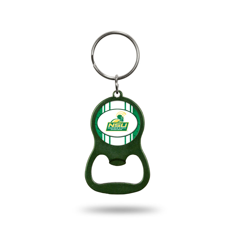 Norfolk State University Colored Bottle Opener Keychain - Green