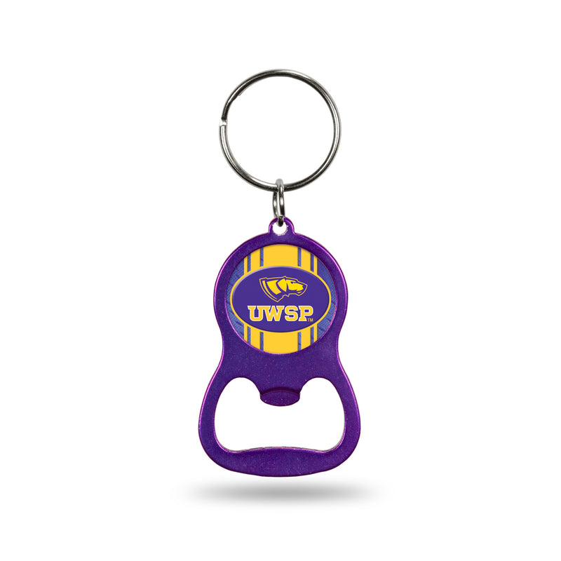 Wisconsin - Stevens Point Purple Bottle Opener Keychain