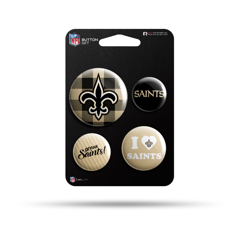Saints Team Button Set