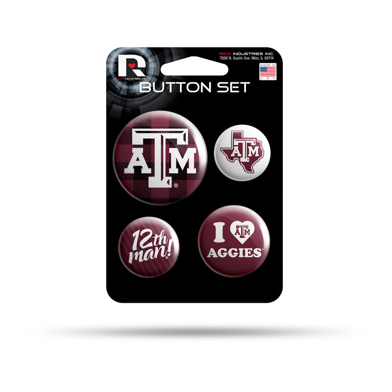 Texas A&M Team Button Set