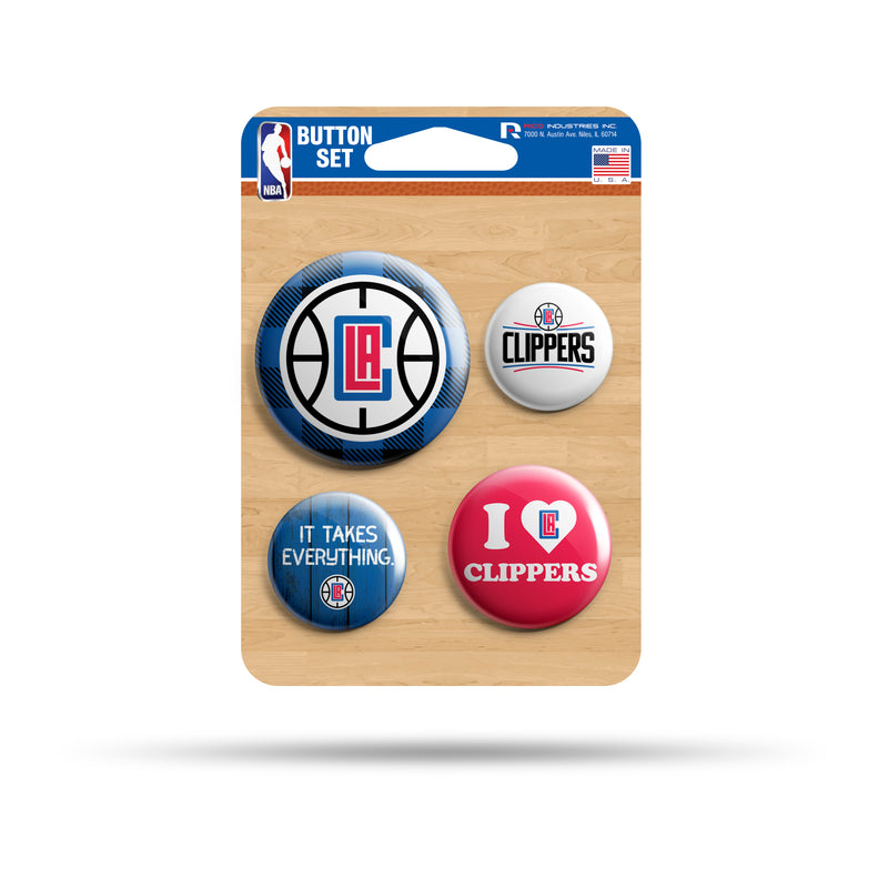 Clippers Team Button Set