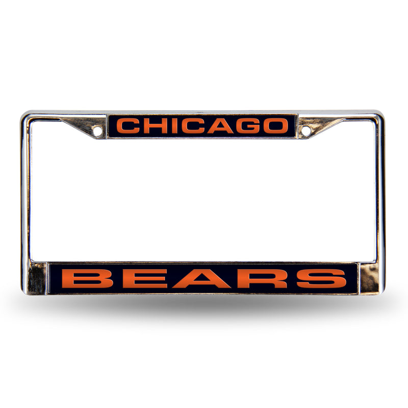 Bears Blue Laser Chrome Frame