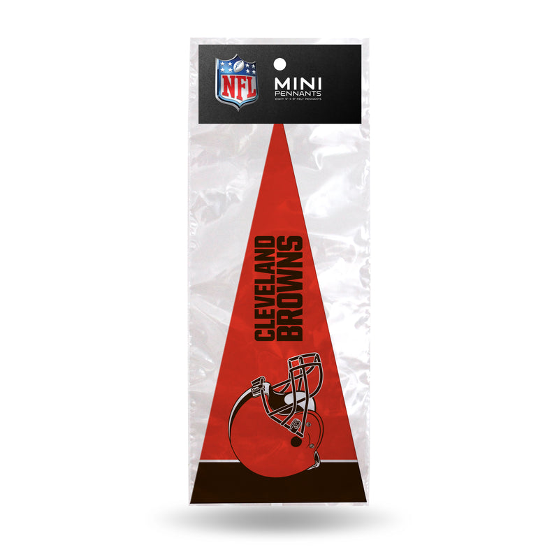 Browns 8 Pc Mini Pennant Pack