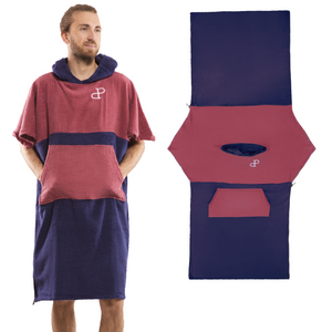 Poncho Surf Convertible V1 Rouge