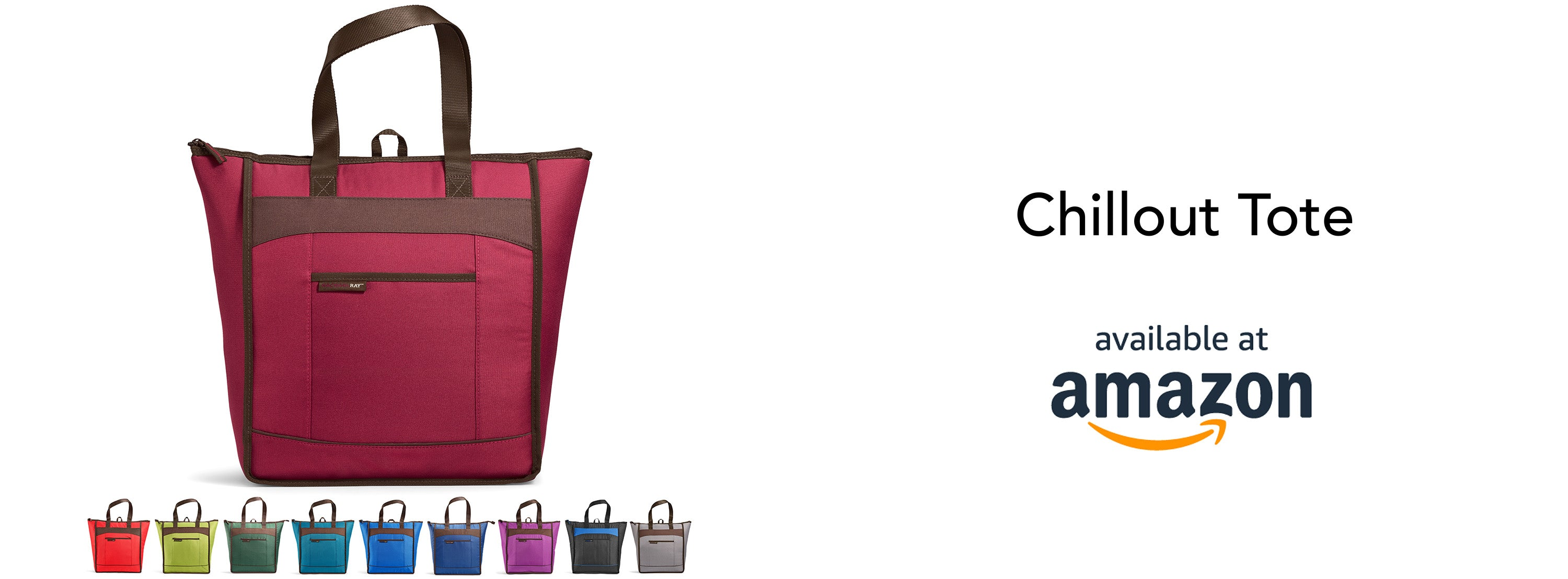 Rachael Ray Chillout Tote Burgundy available at Amazon