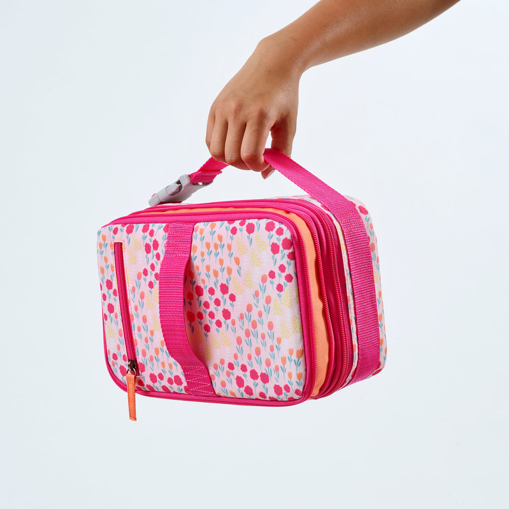 PINK WILDFLOWER EXPANDABLE BENTO 2 IN 1 SET