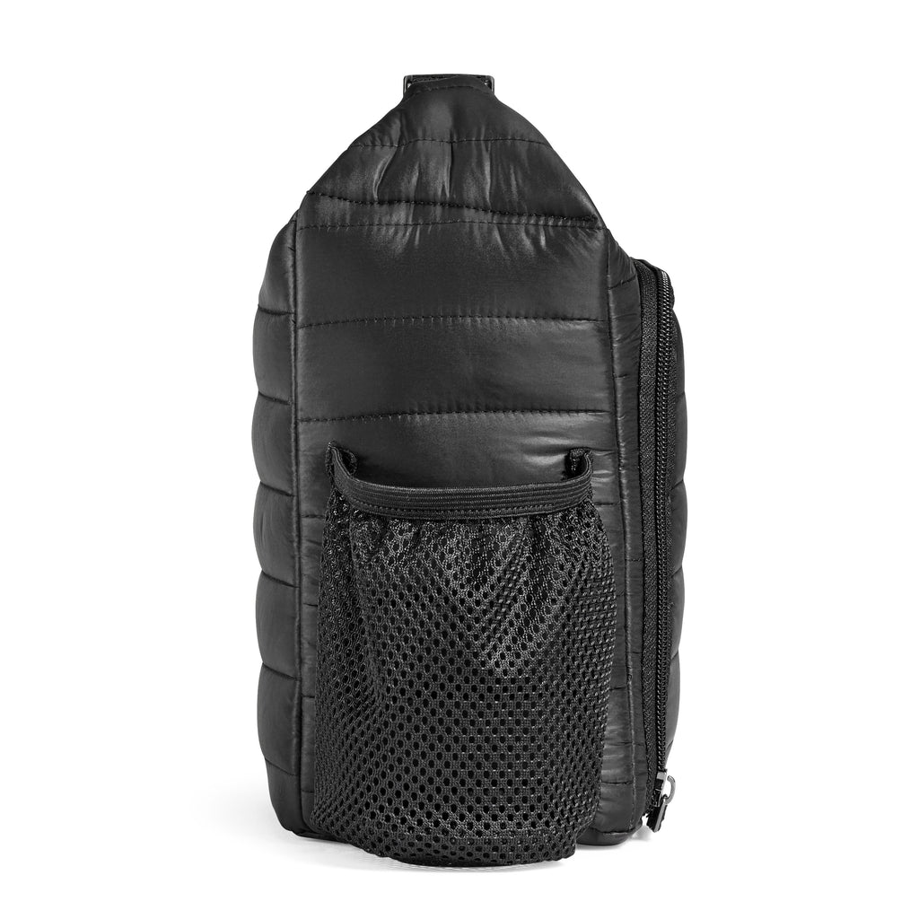 Black Kennedy Quilted Lunch Bag
