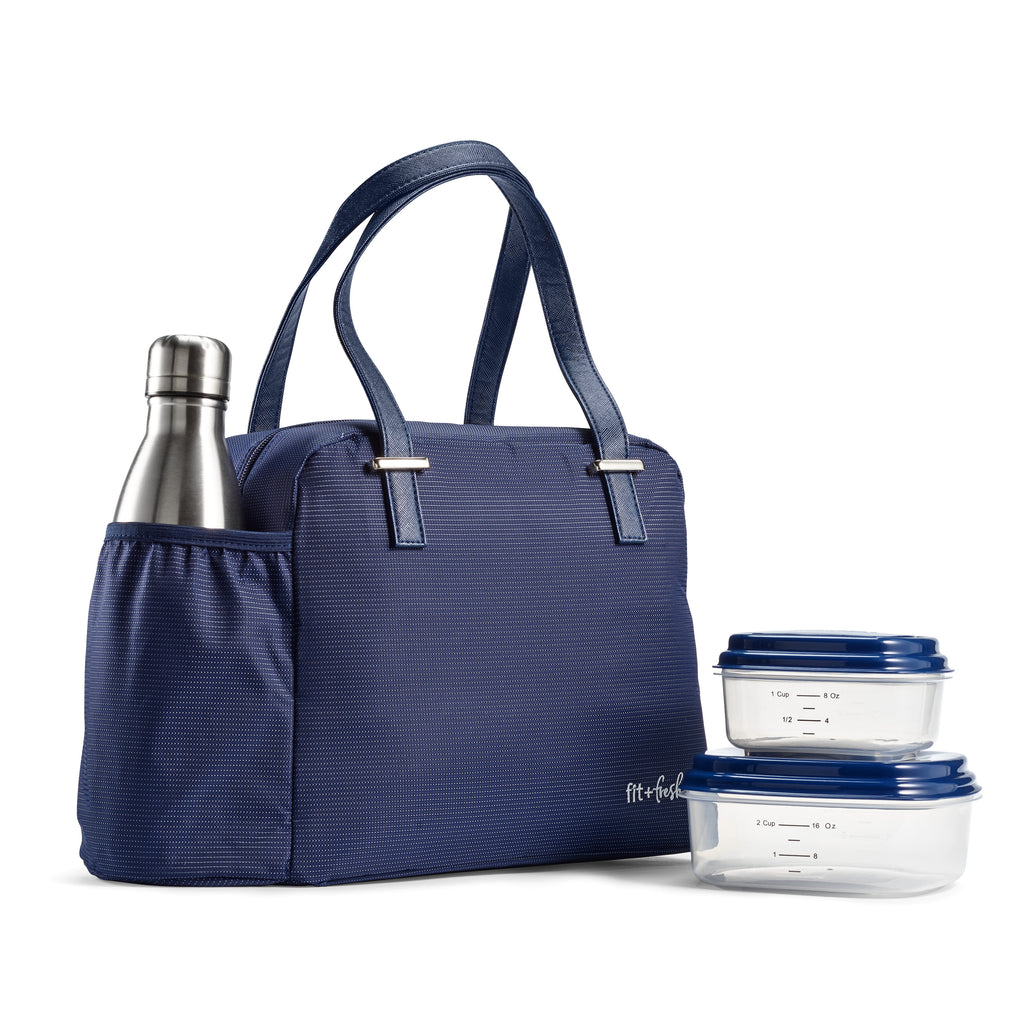 Navy East Side Lunch Bag