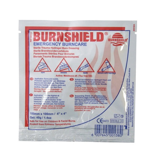 "Burnshield Hydrogel Burn Dressing 10cm x 10cm (4"" x 4"")"