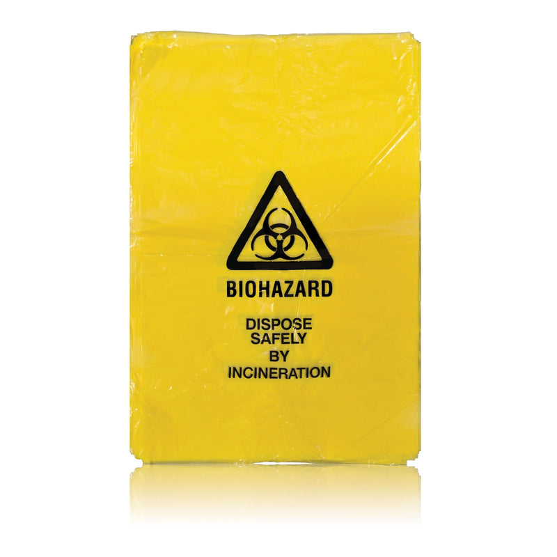 Clinical Waste Bags - Yellow (Pack of 100)